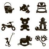 Spielzeug shop_mono Lizenzfreies Stockbild