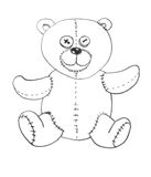 Spielzeug-Teddybär Stockbild