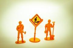 Spielzeugarbeitskräfte Lizenzfreies Stockfoto