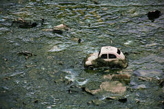 Spielzeugauto im Schmutz. Stockbild