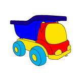 Spielzeugauto-LKW Stockfotografie