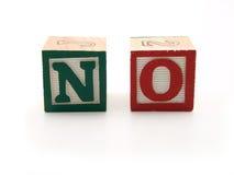 Spielzeugblöcke mit Wort - Nr. Lizenzfreies Stockfoto