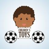 Spielzeugdesign, Kindheit und Spielkonzept Lizenzfreie Stockfotos