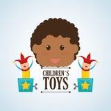 Spielzeugdesign, Kindheit und Spielkonzept Lizenzfreie Stockfotografie