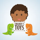 Spielzeugdesign, Kindheit und Spielkonzept Stockfoto