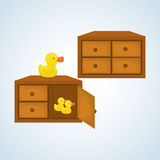 Spielzeugdesign, Kindheit und Spielkonzept Lizenzfreies Stockfoto