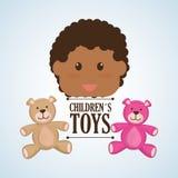 Spielzeugdesign, Kindheit und Spielkonzept Lizenzfreies Stockbild