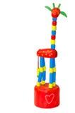 Spielzeuggiraffe  Stockbild