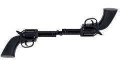 Spielzeughandgewehren angebracht am Faß stockfotos