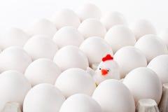 Spielzeughenne und -eier Stockbilder