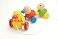 Spielzeugholzente Lizenzfreie Stockfotos
