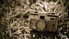 Spielzeugholzkamera Stockfoto