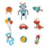 Spielzeugikonen vektor abbildung
