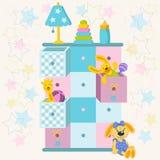 Spielzeugkistevektor Lizenzfreies Stockfoto