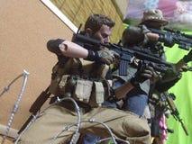 Spielzeugkriegskämpfer Stockfotos