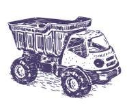 Spielzeuglastwagenvektorzeichnung Lizenzfreie Stockfotos