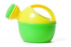 Spielzeugplastikbewässerungsdose lizenzfreie stockfotografie