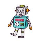 Spielzeugroboter, auf Weiß lizenzfreie abbildung