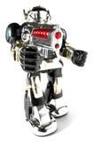 Spielzeugroboter mit Gewehr fisheye pic Lizenzfreies Stockfoto