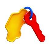 Spielzeugschlüsselauto Stockfoto