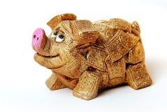 Spielzeugschwein Stockfoto