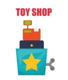Spielzeugshopdesign Lizenzfreies Stockbild