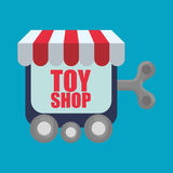 Spielzeugshopdesign Lizenzfreie Stockbilder