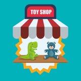 Spielzeugshopdesign Lizenzfreie Stockfotos