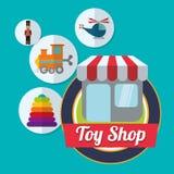 Spielzeugshopdesign Stockbild