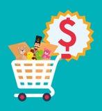 Spielzeugshopdesign Stockfoto