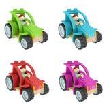 Spielzeugtraktorcollage Lizenzfreies Stockbild