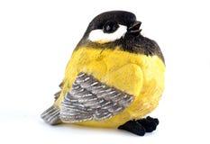 Spielzeugvogel lokalisiert auf weißem Hintergrund Lizenzfreie Stockfotografie