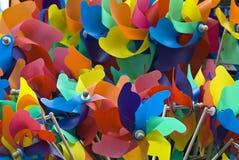 Spielzeugwindmühlenhintergrund Stockbild