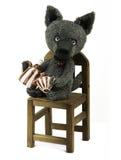 Spielzeugwolf stockfotos