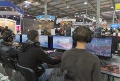 Spielzone in CEE 2015, die größte Elektronikmesse in Ukraine Lizenzfreie Stockfotos