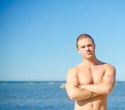 Spier aantrekkelijke mens Stock Foto