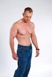 Spier hogere mens stock afbeeldingen