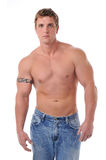Spier jong man torso stock afbeelding