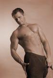 Spier mannelijk model Stock Foto's