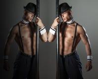 Spier sexy mens. royalty-vrije stock foto's
