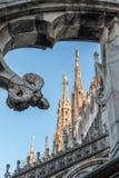 Spiers του καθεδρικού ναού του Μιλάνου, Ιταλία Στοκ Εικόνες
