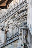 Spiers de Milan Cathedral, Itália Fotografia de Stock