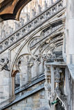 Spiers de Milan Cathedral, Italie photographie stock