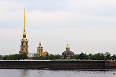 Spiers and dome of the cathedral. Royalty Free Stock Photos