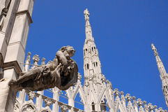 Spiers of the Duomo in Milan, Italy Stock Photos
