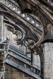 Spiers Mediolańska katedra, Włochy Zdjęcie Royalty Free