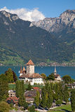 Spiez castle Stock Image