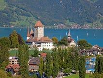 Spiez castle Stock Image