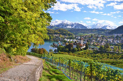 Spiez Castle, Switerland Stock Photos