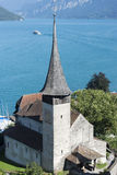 Spiez castle, Switzerland stock images